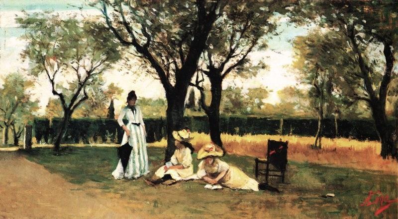 Silvestro Lega - Alla villa di Poggiopiano (1888-1889)