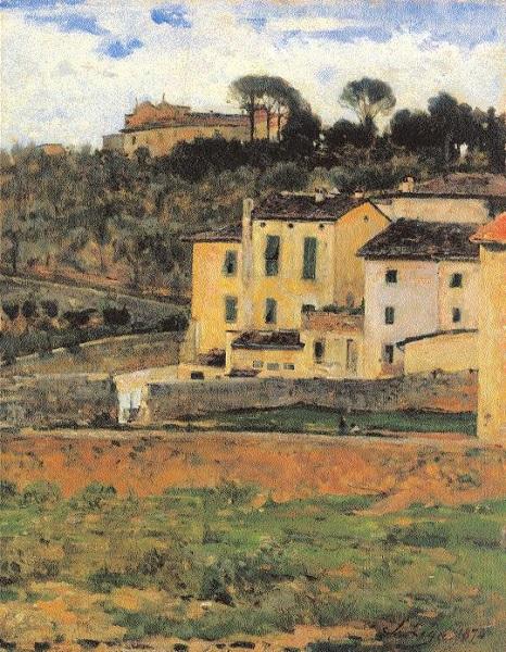 Silvestro Lega - Case a San Gervasio(1874)