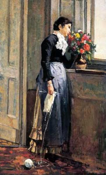 Silvestro Lega - Donna alla finestra (1881)