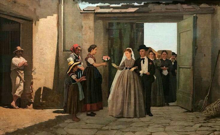 Silvestro Lega - Gli sposi novelli (1869)
