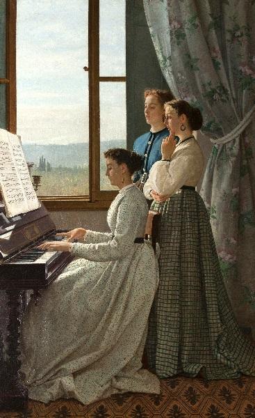 Silvestro Lega - Il canto dello stornello (1867)
