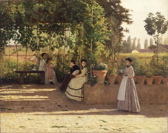 Silvestro Lega - Il pergolato (1868)