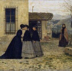 Silvestro Lega - La visita (1868)
