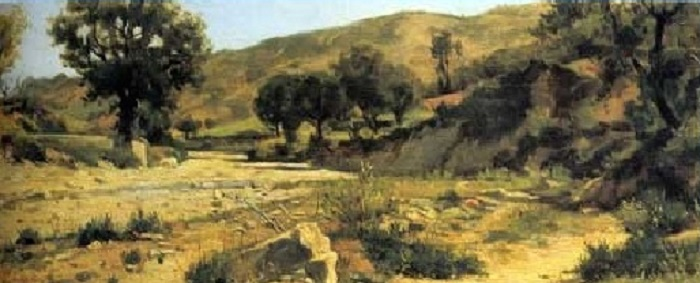 Silvestro Lega - Paesaggio (1875)