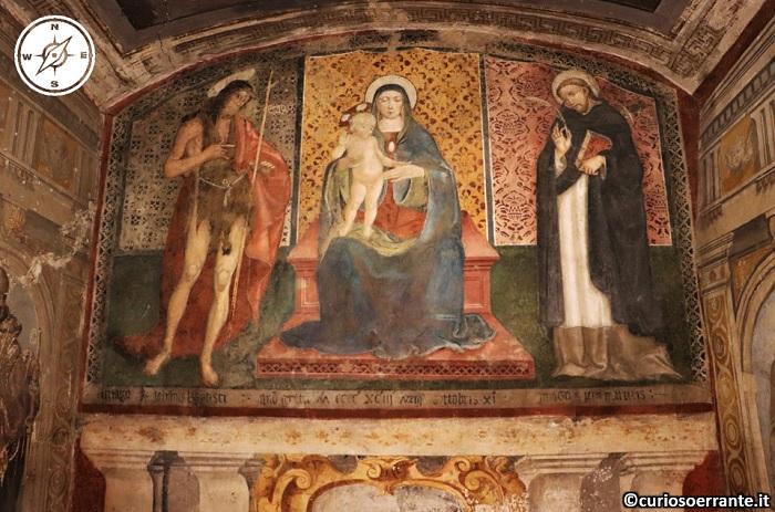 Spoleto - Cappelletta della Madonna del Pozzo - affresco di 1493 Bernardino Campilio