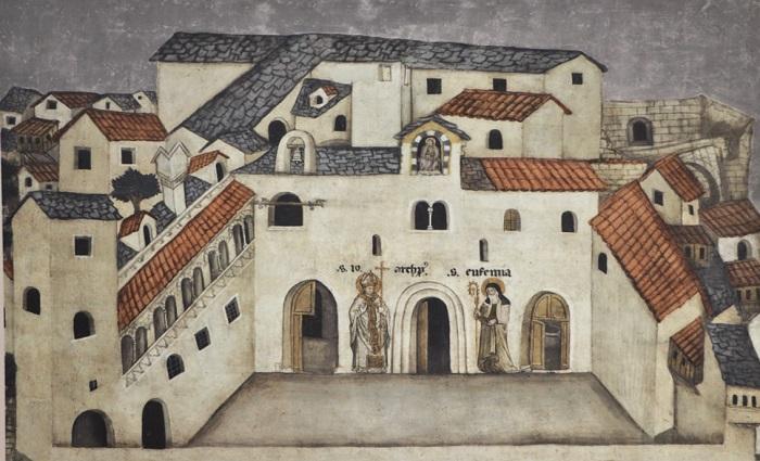Spoleto - Palazzo Vescovile nel XIV secolo