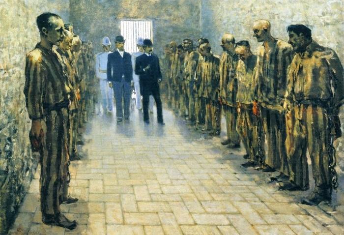 Telemaco Signorini - Il Carcere di Portoferraio (1894)