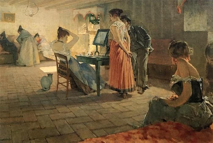 Telemaco Signorini - La toilette del mattino (1898)