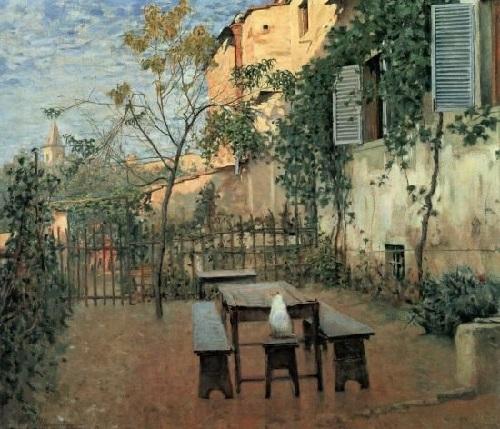 Telemaco Signorini - Una mattina di Settembre a Settignano (1891)