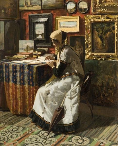 Telemaco Signorini - Unable to wait (1867)
