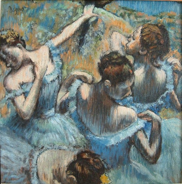 Edgar Degas - Ballerine dietro le quinte (1897)