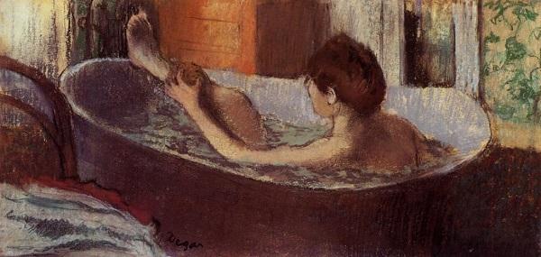 Edgar Degas - Donna che fa il bagno (1884)