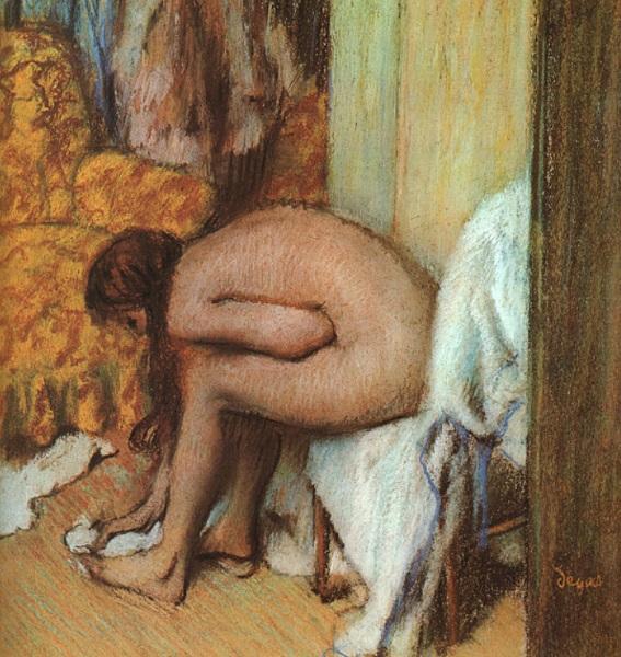 Edgar Degas - Donna che si asciuga il piede (1886)