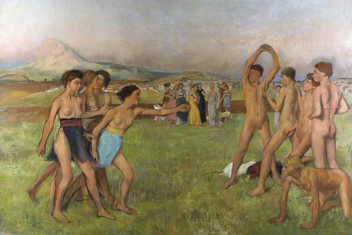Edgar Degas - Giovani spartane che provocano alcuni giovani (1860)