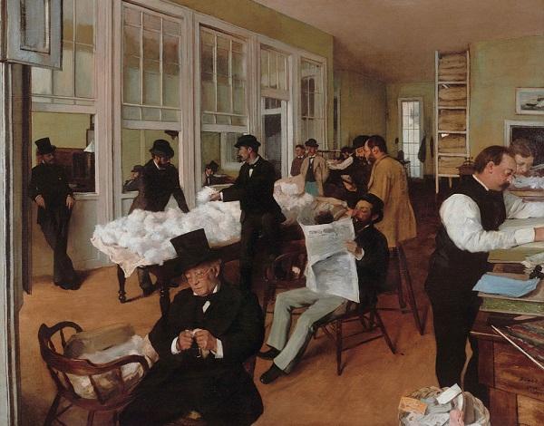 Edgar Degas - Il mercato del cotone a New Orleans (1873)