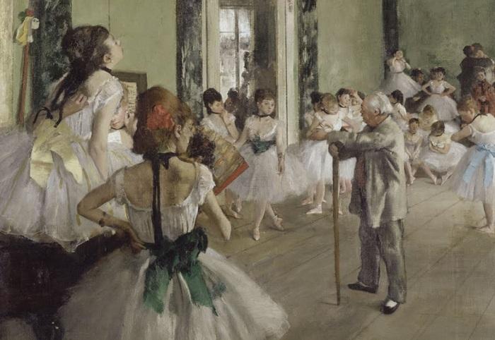 Edgar Degas - La lezione di danza (1873-75)