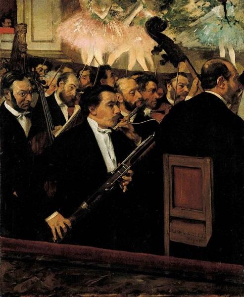 Edgar Degas - L'orchestra dell'opera (1868)