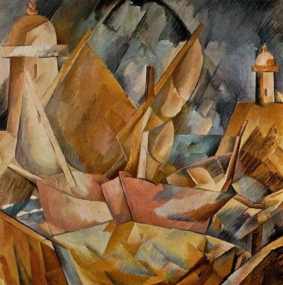 Georges Braque - Harbor in Normandy (1909)