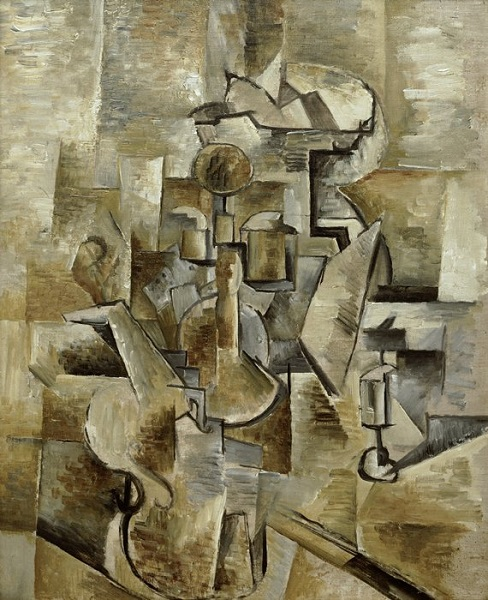 Georges Braque - Violin and Candlestick (1910)