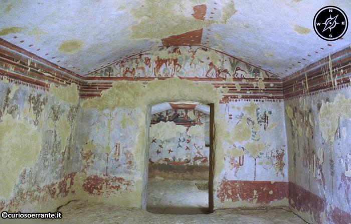 Tarquinia - Necropoli di Monterozzi - Tomba della Caccia e della Pesca