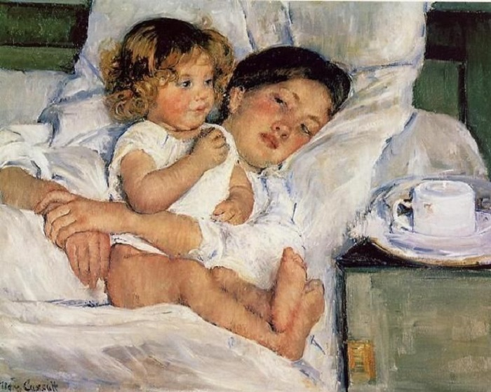 Mary Cassatt - Colazione a letto (1897)