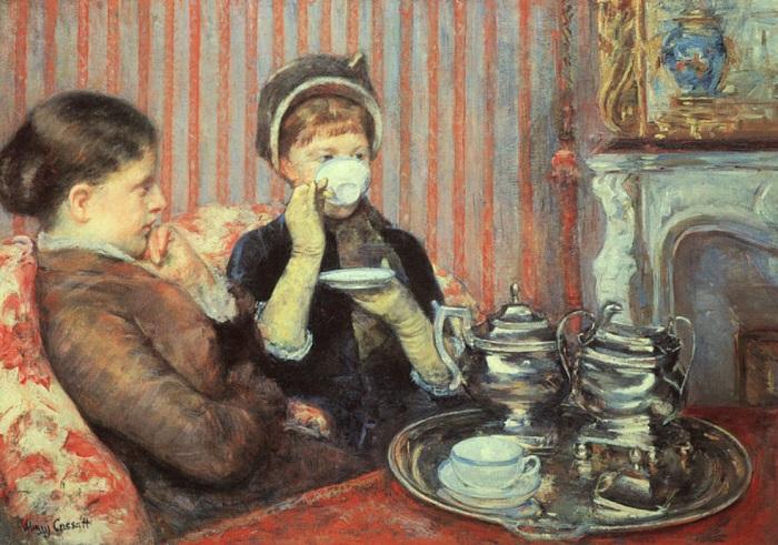 Mary Cassatt - Il tè delle cinque (1880)