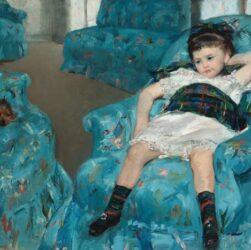 Mary Cassatt - Little Girl in a Blue Armchair (1878)