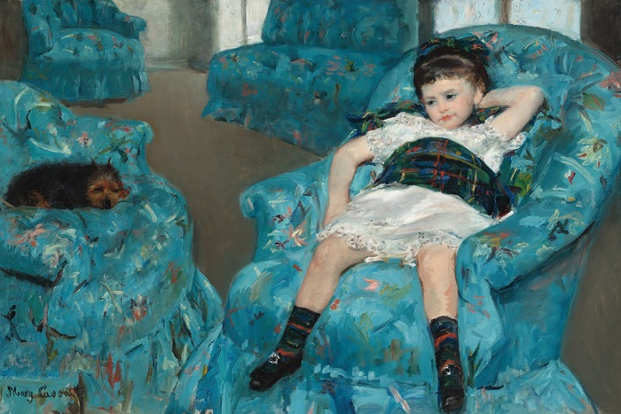 Mary Cassatt - Little Girl in a Blue Armchair (1878)