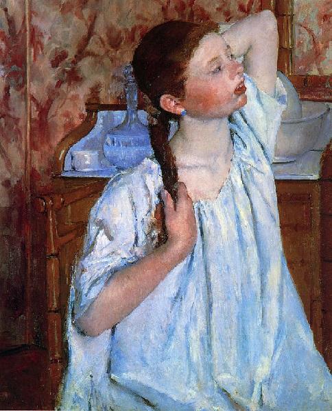 Mary Cassatt - Ragazza che si pettina (1886)