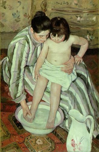 Mary Cassett - Il bagno del bambino (1893)