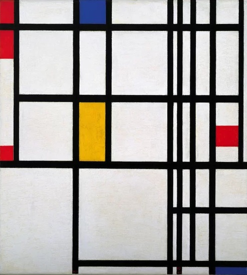 Piet Mondrain - Composizione in rosso, blu e giallo (1937-42)