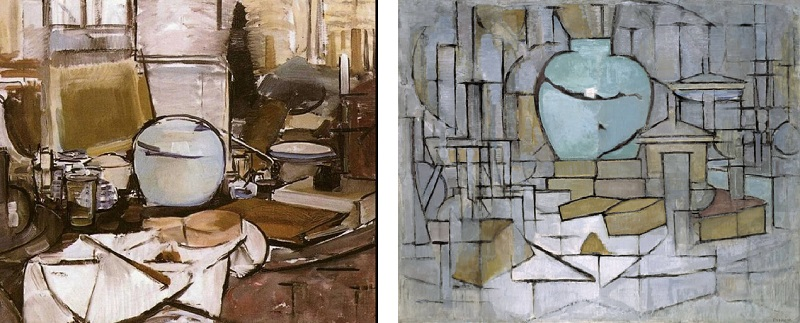 Piet Mondrain - Natura morta con vaso di zenzero I (1911) e II (1912)