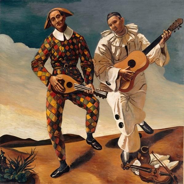 André Derain - Arlecchino e Pierrot (1924)