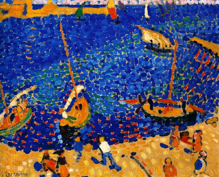 André Derain - Boats at Collioure (1905)