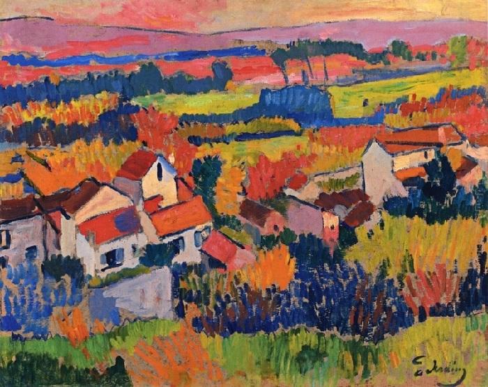 André Derain - Paesaggio nei pressi di Chatou (1904)