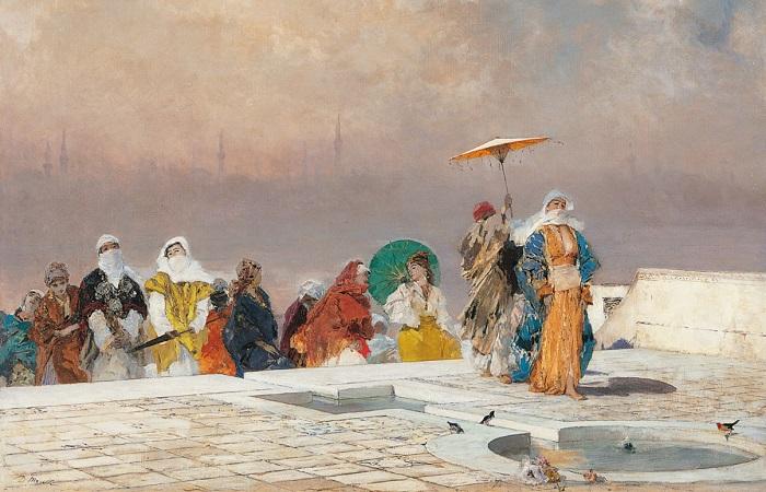Domenico Morelli - La sultana che torna dal bagno (1877-83ca)
