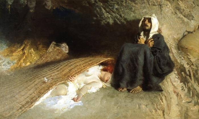 Domenico Morelli - Le tentazioni di Sant'Antonio (1878)