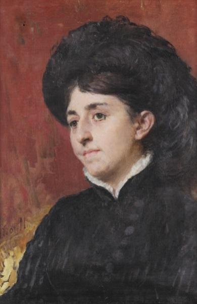 Domenico Morelli - Ritratto di Signora (1870)