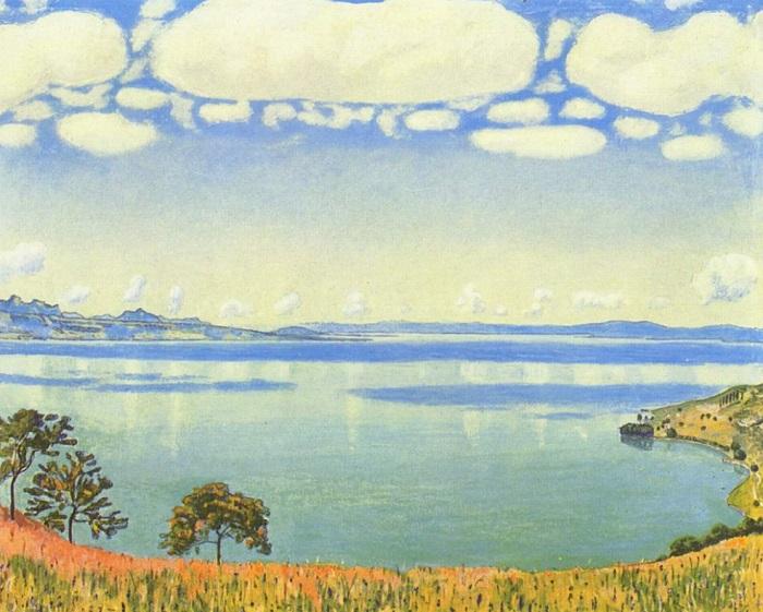 Ferdinand Hodler - Il lago di Ginevra visto da Chexbres (1905)