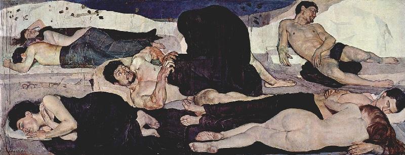Ferdinand Hodler - La notte (1890)