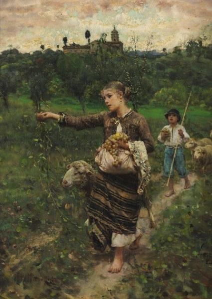 Francesco Paolo Michetti - Paisanella (1887)