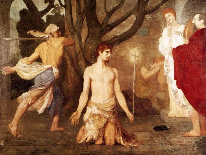 Pierre Puvis de Chavannes - Decapitazione di San Giovanni Battista (1869)