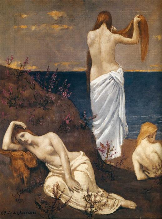 Pierre Puvis de Chavannes - Fanciulle in riva al mare (1894)