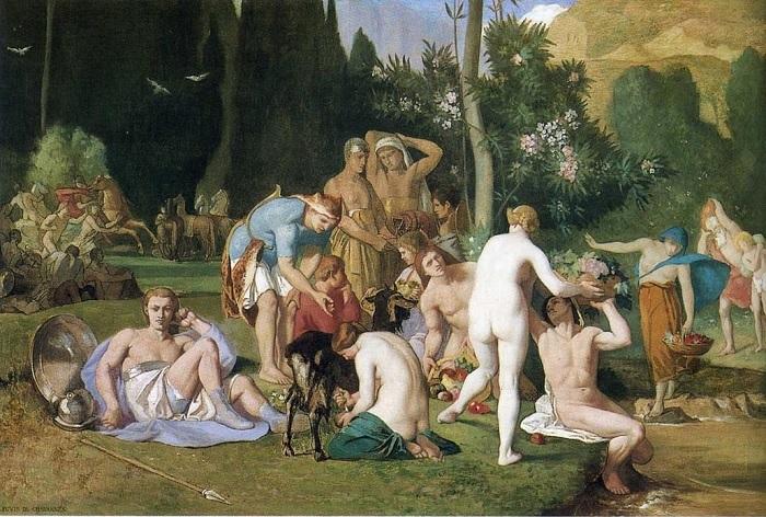 Pierre Puvis de Chavannes - La pace (1861)