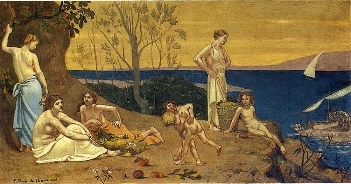 Pierre Puvis de Chavannes - La terra della felicità (1882)