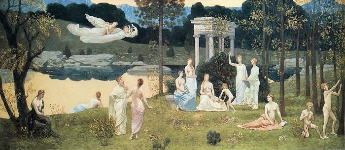 Pierre Puvis de Chavannes - Le arti e le muse (1886)