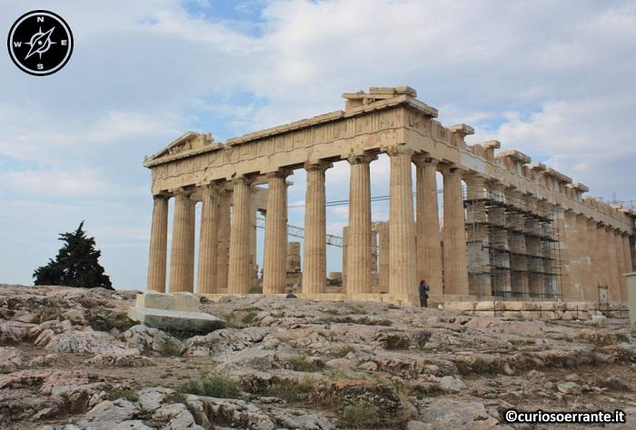 Acropoli di Atene ed il Partenone - Partenone (retro)