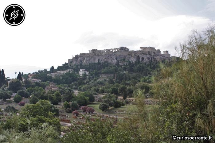 Acropoli di Atene ed il Partenone - veduta