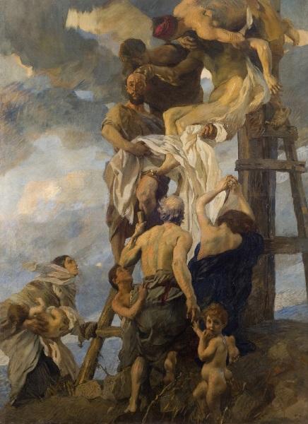 Ettore Tito - La discesa dalla croce (1911)