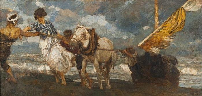 Ettore Tito - La gomena (1909)